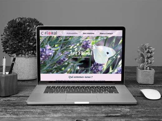 Maquette de site pour le magasin de fleur C Floral